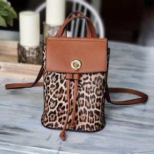 Isabelle animal print backpack crossbody